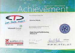ETC MOC Zertifikat Win10 Troubleshooting+Support-1